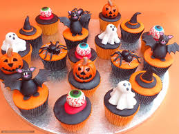 download wallpaper happy holidays halloween cupcakes free