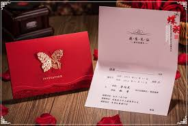 Red Wedding Invitations 3d Butterfly Design Red Wedding Invitation Card Red Invitaion With