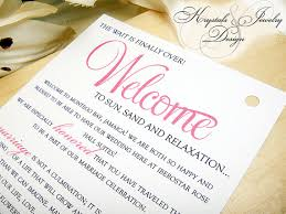 Destination Wedding Itinerary Researved Welcome Card Itinerary Card Double Sided Wedding Cards