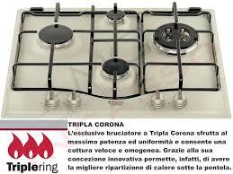 ariston piani cottura piano cottura cucina tradizione 4 fuochi gas cm 60 bianco antico