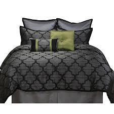 California King Comforter Set Shop Stratford Park Alhambra 8 Piece Black Silver California King