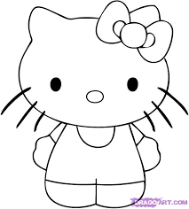 draw kitty step step characters pop culture