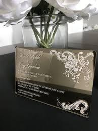 acrylic wedding invitations mirrored acrylic wedding invitation acrylic wedding