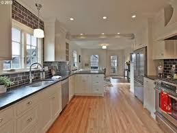 galley kitchen with island layout inspiration