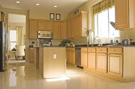 Natural Maple Kitchen Cabinets Contemporary Light Maple Kitchen Cabinets With Hardwood Floors