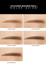 How To Pencil In Eyebrows 3ce Sharpen Edge Brow Pencil Stylenanda