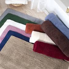 Contemporary Bath Rugs Amazon Com Cotton Bath Mat Plush 100 Percent Cotton 24x60 Long