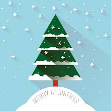 snow tree vector free vector graphic