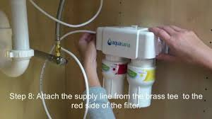 how to install an aquasana aq 5200 under counter drinking water