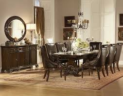 Double Pedestal Dining Room Tables Homelegance Orleans 11 Piece Double Pedestal Dining Room Set In