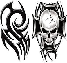 tribal temporarytattoo tribal skull t4aw tattoos