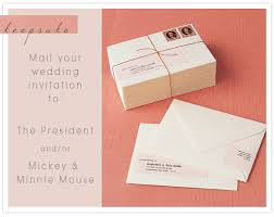 mailing wedding invitations keepsake mailing your wedding invitations to the president and