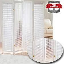 Shutter Room Divider by Modern 4 Panel Room Divider Screen Wooden Shutter Weave White