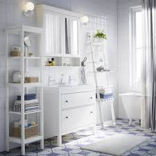 White Bathroom Mirror by Bathroom Cabinets Ikea Take A Vacation In White And Blue