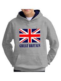 Great Britain Flag Kids Union Jack Hoodie Great Britain Flag Gb Sweatshirt Ebay