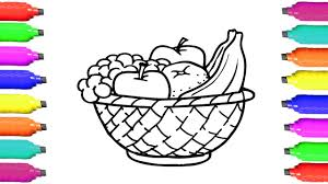 coloring pages fruits how to draw fruits basket art videos for