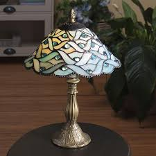 Stained Glass Light Fixtures Blue Waves Stained Glass Lamp At Linda Anderson