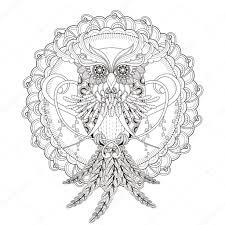 gorgeous owl coloring page u2014 stock vector kchungtw 82669272