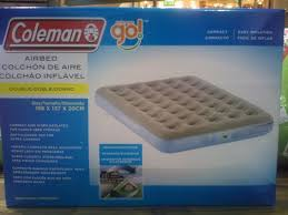 shop coleman 2000006472 go double air bed evergreen adventure