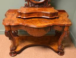 spectacular golden walnut victorian antique dressing table c