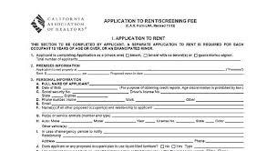 rental application real estate forms