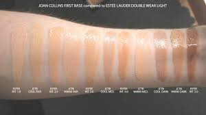estee lauder double wear light foundation best joan collins timeless beauty first base foundation within estee