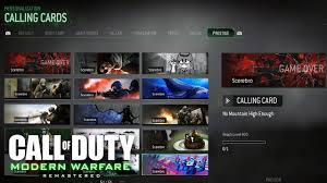 call of duty 4 modern warfare all prestige emblems calling