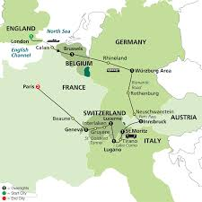 Rothenburg Germany Map by Manor Travel Holiday Experts For Corporate Travellers