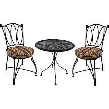 Mainstays Patio Furniture by Mainstays Alexandra Square 3 Piece Outdoor Bistro Set Red Stripe