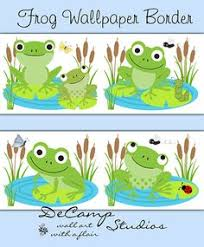 Frog Nursery Decor Frog Wall Mural Decals Baby Boy Woodland Pond Animals Nursery