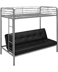 Get The Deal Essential Home Black Payton Twin Over Futon Bunk Bed - Futon bunk bed with mattresses
