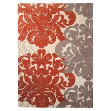 Coral Area Rug Threshold Exploded Damask Area Rug Coral Gray Home