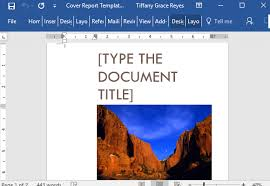 m e report template cover report template for word with cover picture