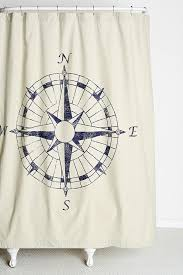 Nautical Bathroom Curtains 4040 Locust Navigation Shower Curtain Well This Goes With Our