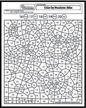 color by number coloring pages color by numbers pinterest