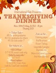 international club s thanksgiving dinner the daily