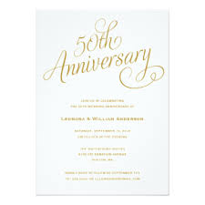 wedding anniversary invitations announcements zazzle