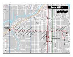 Chicago Transit Authority Map by Cta 31 31st Route Pilot