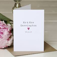 wedding card to personalised mr and mrs wedding card by slice of pie designs