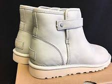 s grey ankle ugg boots ugg australia 1007145 rella leather ankle boots sheepskin shoes 6