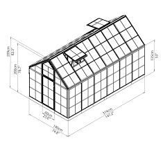 Palram Lean To Greenhouse Palram Snap U0026 Grow 6 U0027 X 12 U0027 Clear Panels Silver Frame Greenhouse