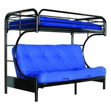Metal Bunk Bed With Futon Roselawnlutheran - Metal bunk beds with futon