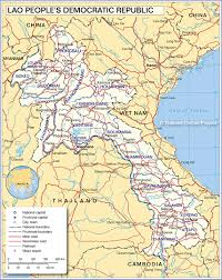 maps of map of laos nations project