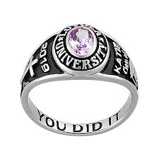 silver class rings images Ladies sterling silver traditional petite oval birthstone class jpg