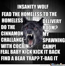 Crazy Wolf Meme - wolf meme