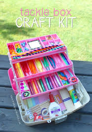 kid craft kits tackle box craft kit this would be such a gift idea for a