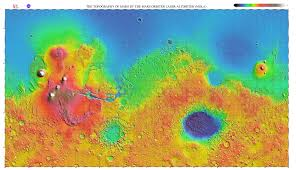 World Elevation Map by Interactive Mars Data Maps