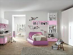 bedroom purple brown mattress combined by white pink wooden