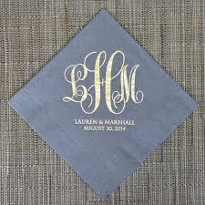 wedding cake napkins personalized wedding monogram napkins custom napkins gold foil