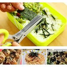 cuisine mondial mondial en acier inoxydable 5 ciseaux lame de déchiquetage cut